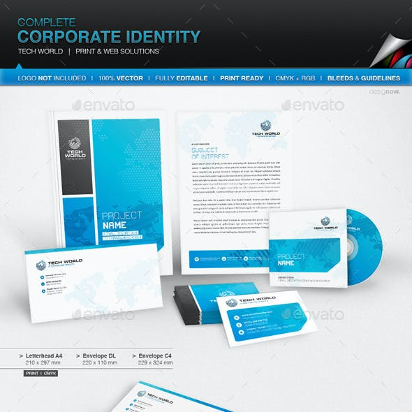 Corporate Identity - Tech World