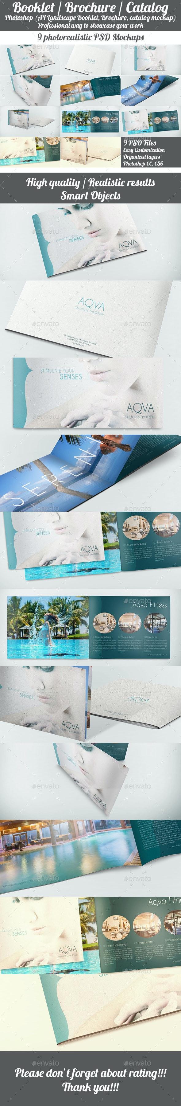 Landscape Booklet / Brochure / Catalog Mockup - Brochures Print