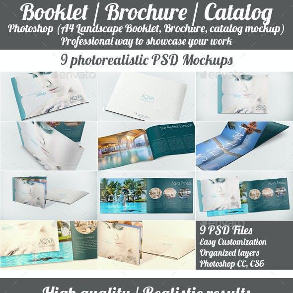 Landscape Booklet / Brochure / Catalog Mockup
