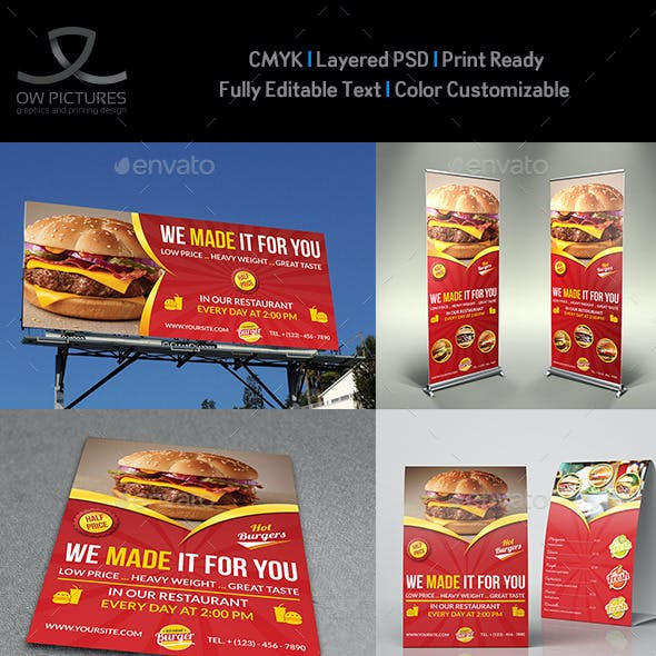 Restaurant Advertising Bundle Vol.4