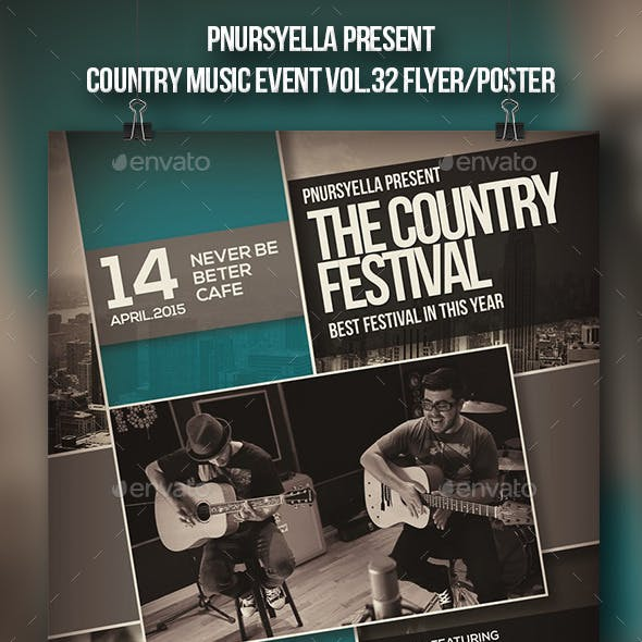 Country Music Event Lyer / Poster Vol.2