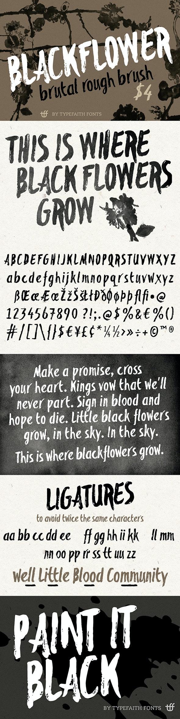 Blackflower - Handwriting Fonts
