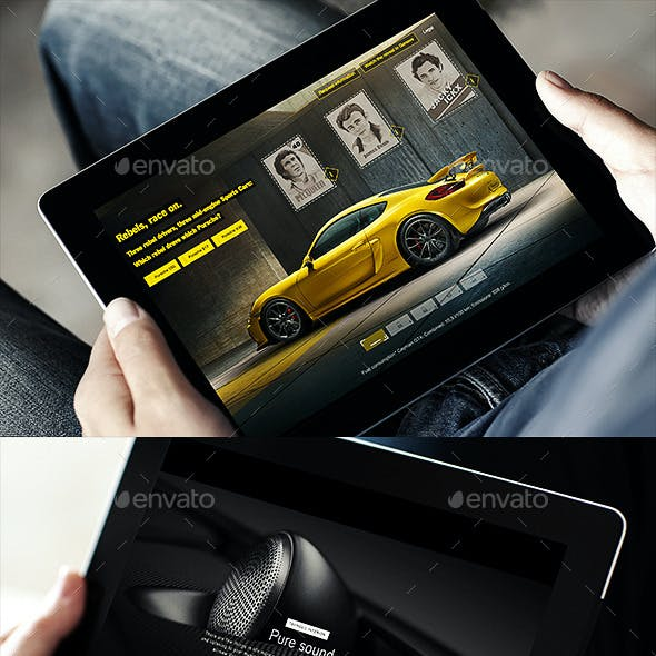 Photorealistic Display Tablet Mock-Up