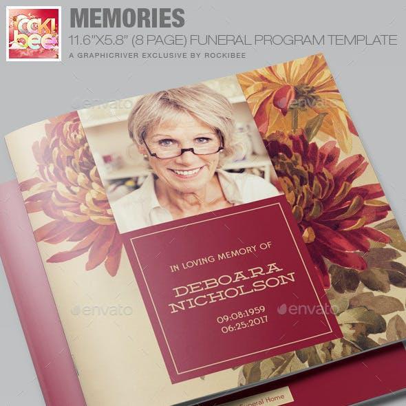Memories Funeral Program Template