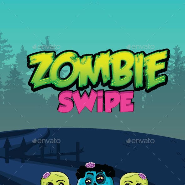 Zombie Swipe Game UI