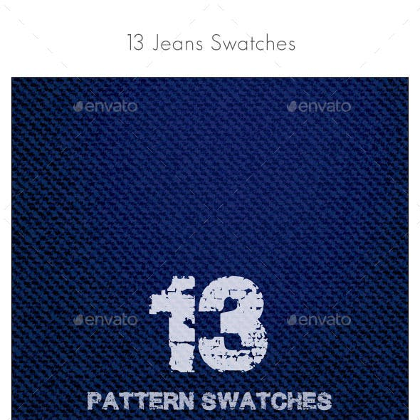 Jeans Pattern Swatches