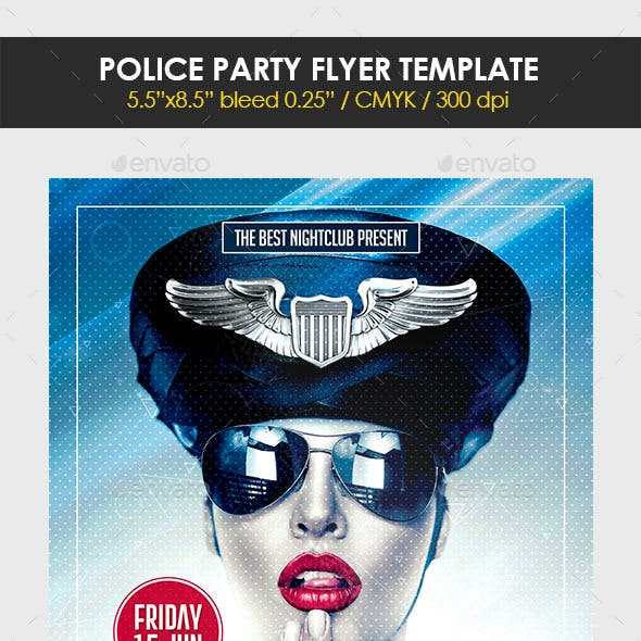 Police Party Flyer Template