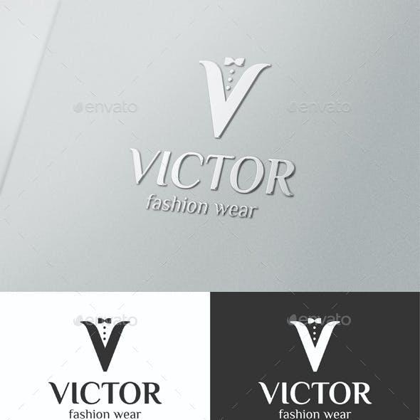 V Letter Logo Mens Fashion Wear