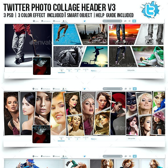 Twitter Photo Collage Header V3