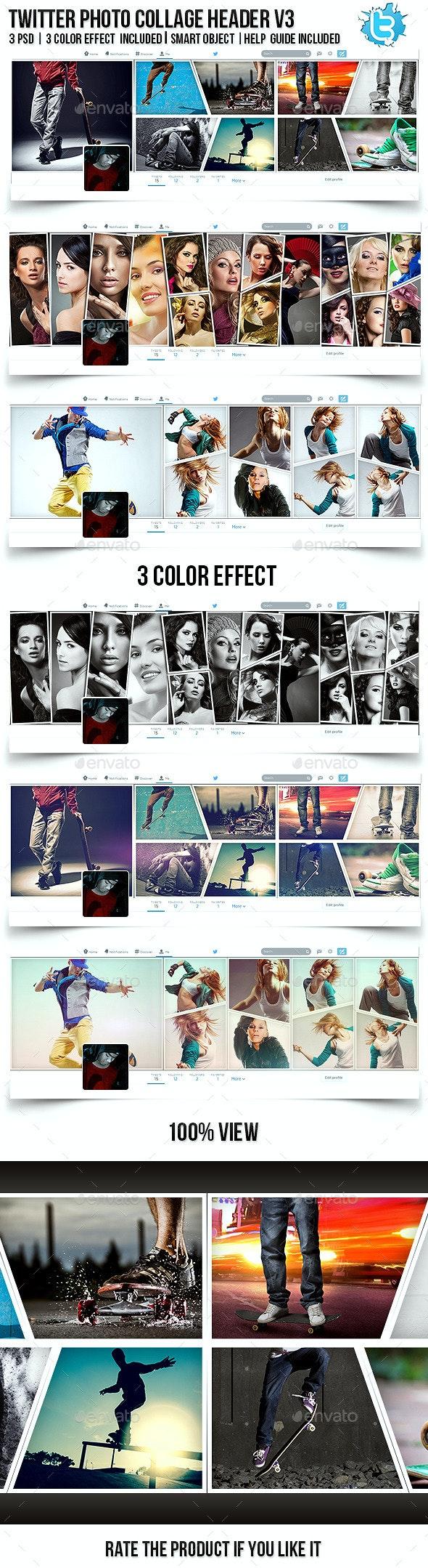 Twitter Photo Collage Header V3 - Twitter Social Media
