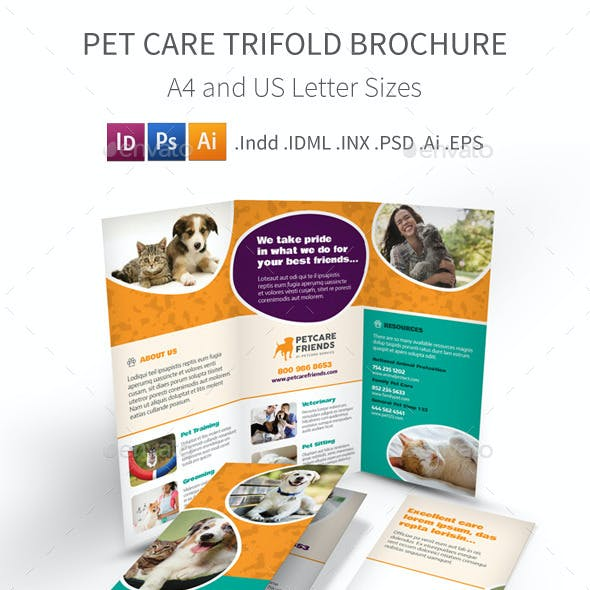 Pet Care Trifold Brochure