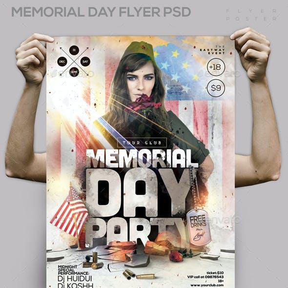 Memorial Day Flyer PSD Template
