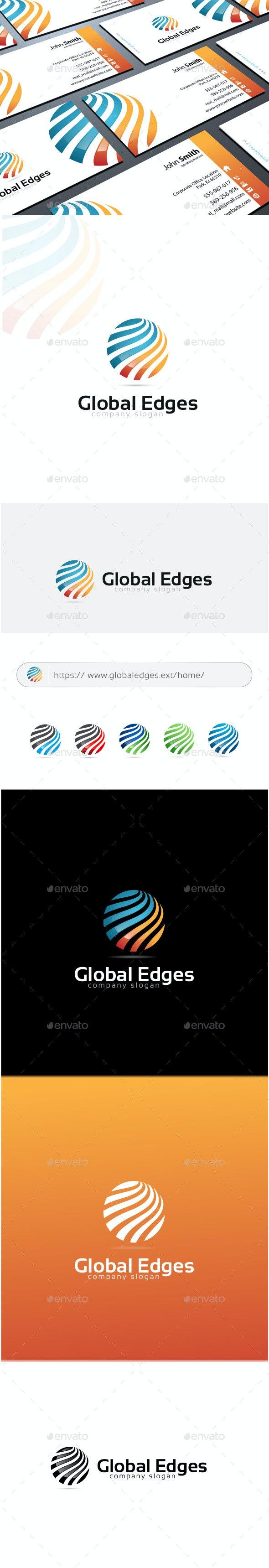 Global Edges Logo - Abstract Logo Templates