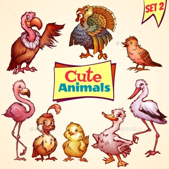 Set of Birds - Animals Characters