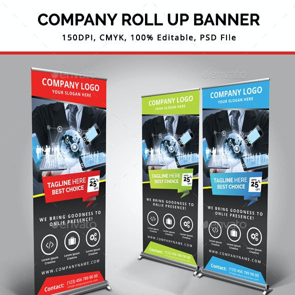 Company Roll Up Banner