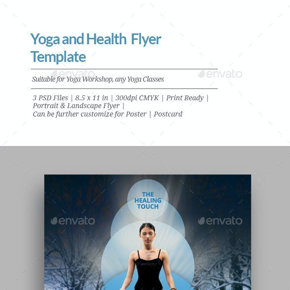 Yoga and Health Flyer Templates