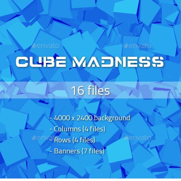 Cubes Background, Elements and Banners