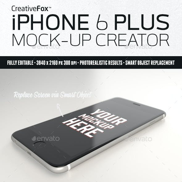 iPhone 6 Plus Mockup Creator