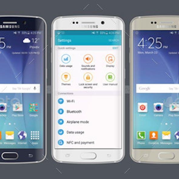 Samsung Galaxy S6 Edge Flat Mock-ups
