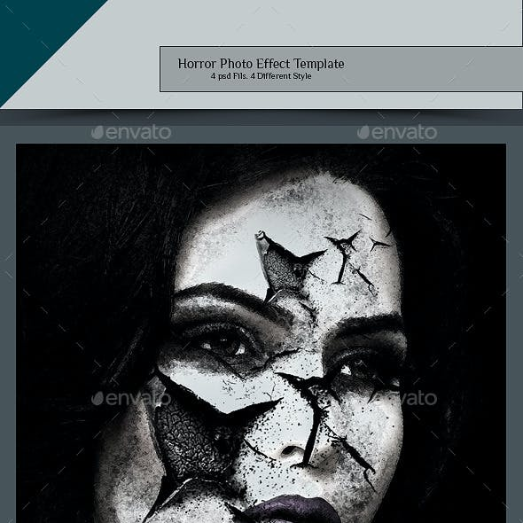 Horror Photo Effect Template