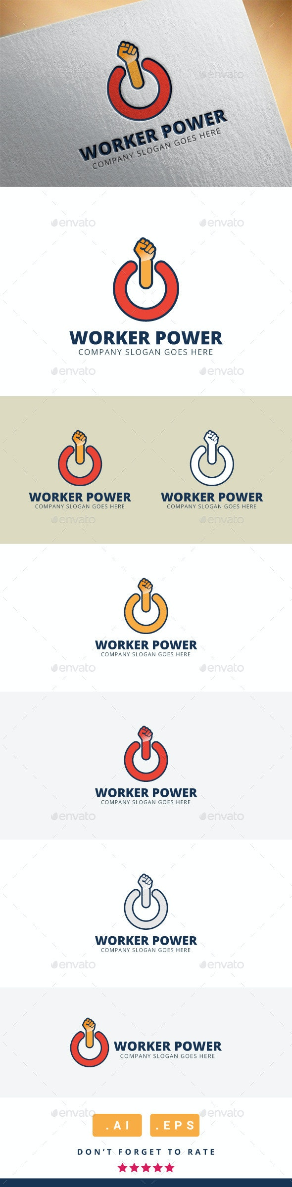Worker Power Logo - Humans Logo Templates