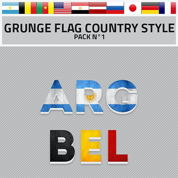 Grunge Flag Country Style Pack 1