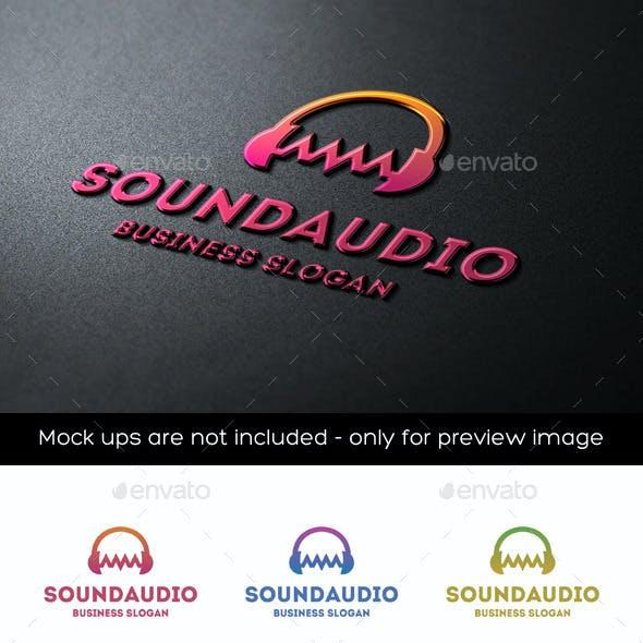 Audio Wave Sound Headphones Logo