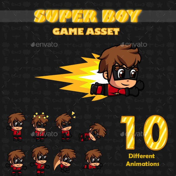Super Boy Game Asset