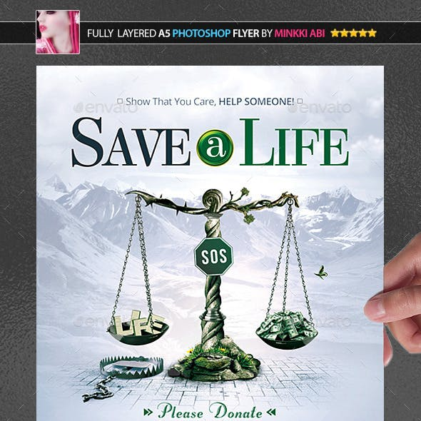 Save A Life Poster/Flyer