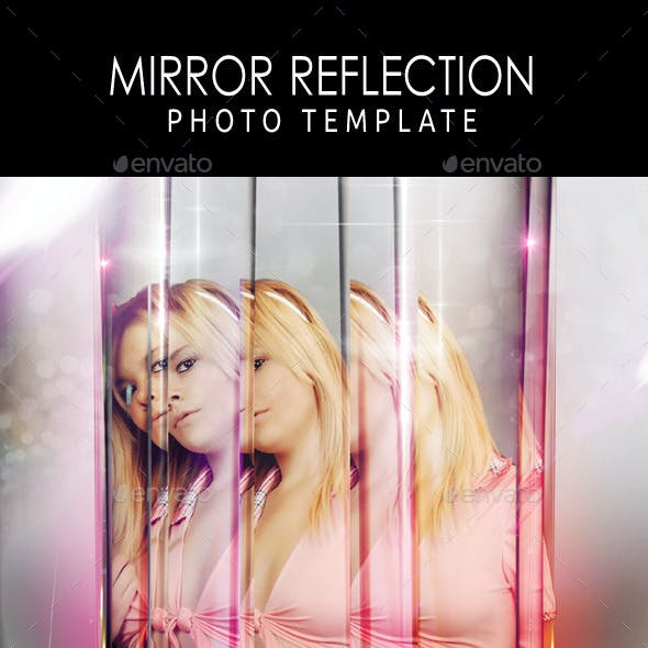 Mirror Reflection Photo Template
