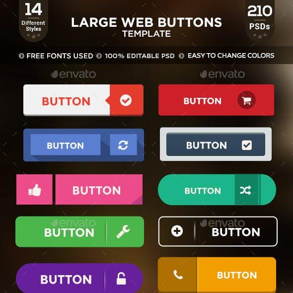 Modern Web Buttons - 200+ Buttons