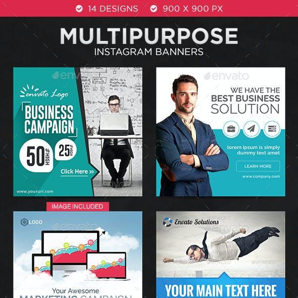 Multipurpose Instagram Templates - 14 Designs