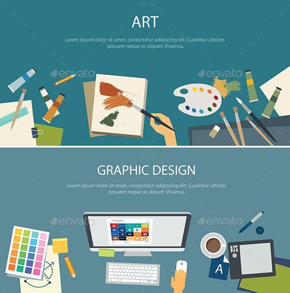 Art Education and Graphic Design Web Banner - Miscellaneous Conceptual