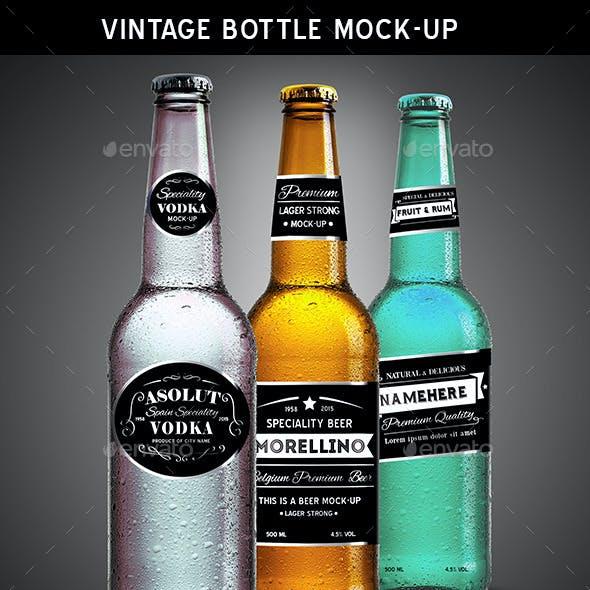 Vintage Bottle Mock-up