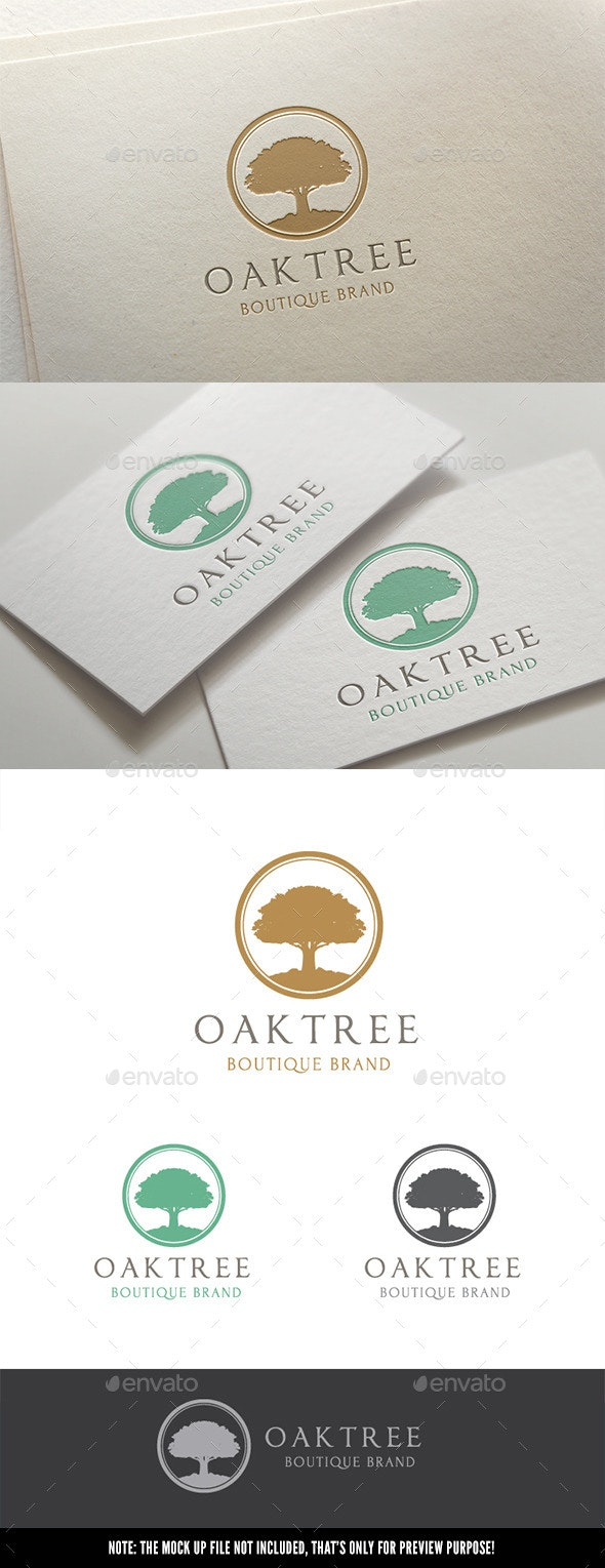 Oak Tree - Nature Logo Templates