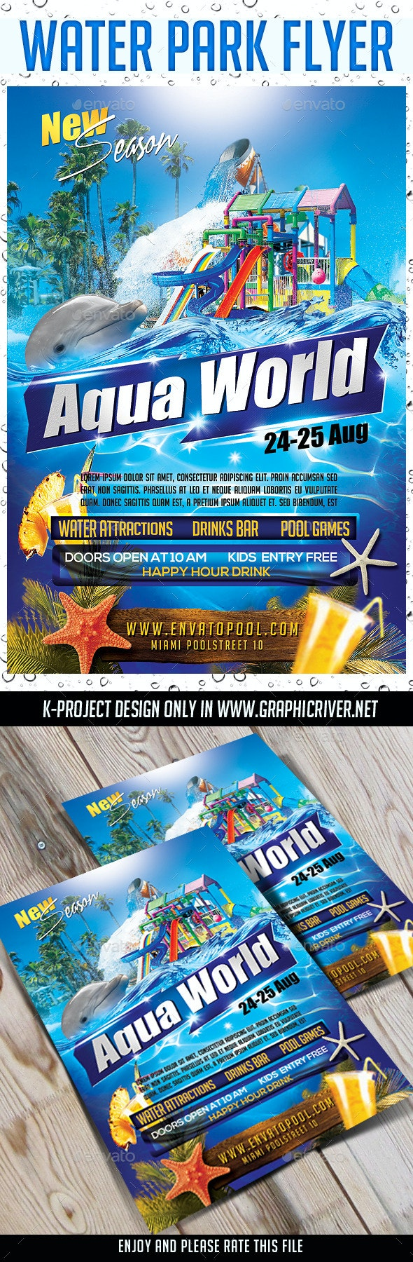 Water Park Flyer - Events Flyers