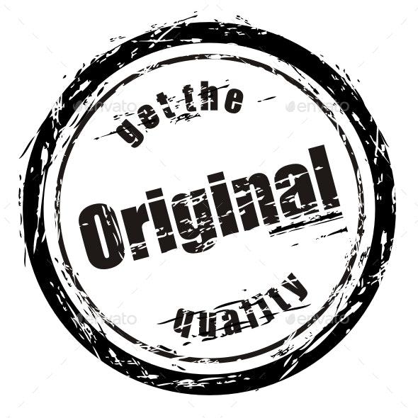Stamp — Vector EPS, PSD Template - Decorative Symbols Decorative