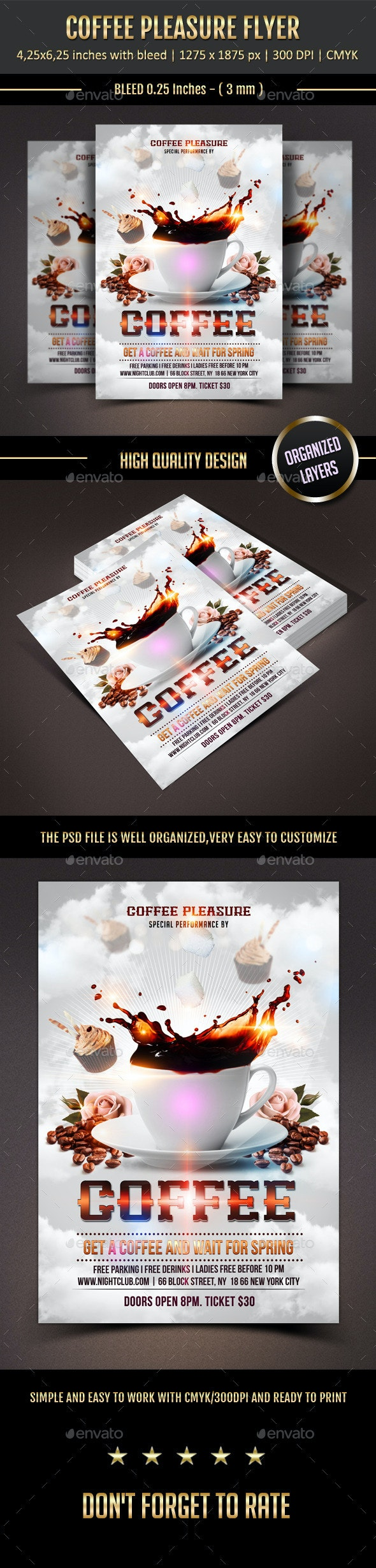 Coffee Pleasure Flyer - Events Flyers