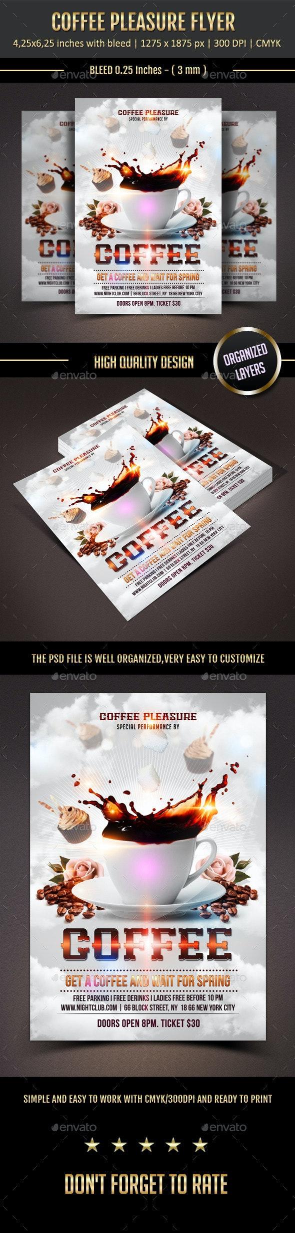 Coffee Pleasure Flyer - Events Flyers