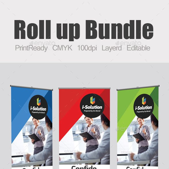 Roll Up Business Banners Template Bundle