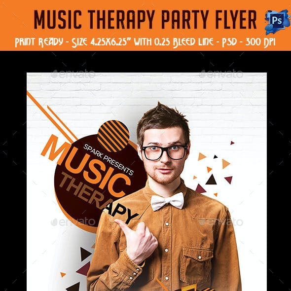 Music Therapy Party Flyer