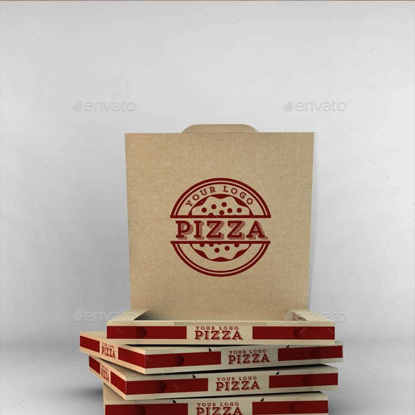 Take-Away Pizza Box Mock-Up