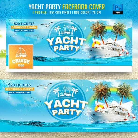 Yacht Party Facebook Cover