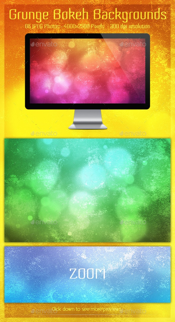 Grunge Bokeh Backgrounds - Backgrounds Graphics