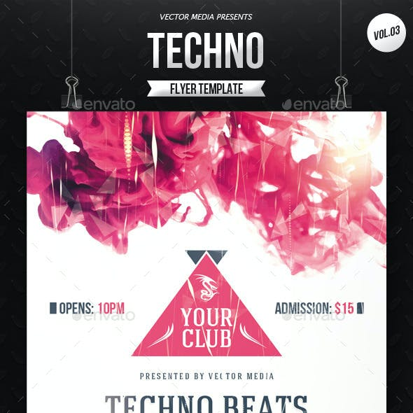 Techno - Flyer [Vol.3]