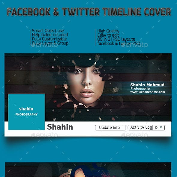 Facebook and Twitter Timeline
