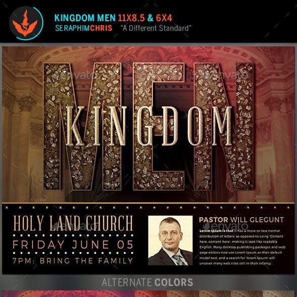 Kingdom Men Church Flyer Template
