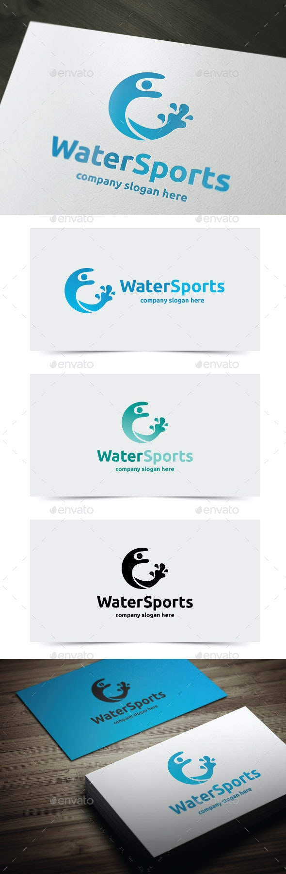 Water Sports - Humans Logo Templates