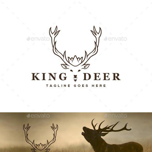 King Deer Logo Template