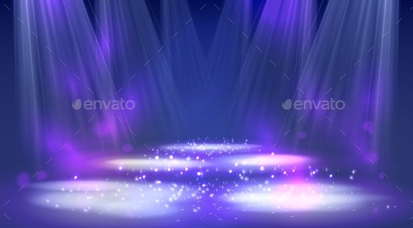 Stage Spotlights.  - Backgrounds Decorative